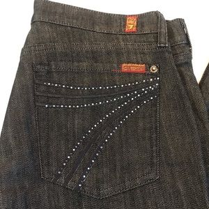 7 for all Mankind Dojo Jeans clear & blue jewels